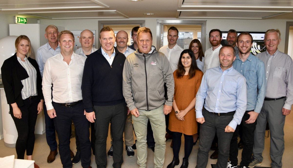 Clients and Globetech team together.   The seminar included a presentation and talk with Terje Marcussen, General Manager of Vipers and serial entrepreneur. With a genuine passion and engagement the topic of corporate culture and change management was an inspiring session.